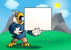 Scheda del segno del pappagallo illustrazione di stock