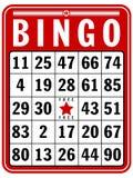 Scheda del segno di Bingo Immagine Stock
