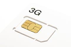 scheda del sim 3G Fotografie Stock Libere da Diritti