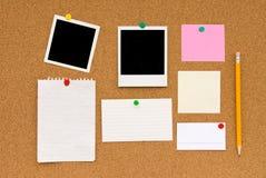 Scheda del sughero del messaggio Fotografia Stock