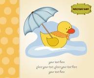 scheda dell'acquazzone di bambino illustrazione di stock