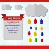 Scheda dell'acquazzone di bambino Immagini Stock