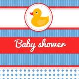 Scheda dell'acquazzone di bambino Fotografia Stock
