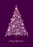 Scheda dell'albero di Natale Fotografia Stock