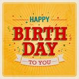 Scheda dell'annata - buon compleanno. Fotografia Stock Libera da Diritti