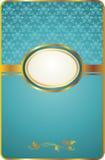 Scheda dell'annata con l'emblema dell'oro Fotografie Stock Libere da Diritti