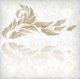 Scheda dell'annata con l'ornamento floreale con il fiore Immagine Stock