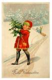 Scheda dell'annata di Buon Natale Fotografia Stock