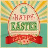 Scheda dell'annata di Pasqua. Immagini Stock
