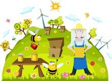 Scheda dell'azienda agricola royalty illustrazione gratis