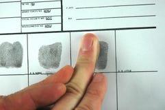 Scheda dell'impronta digitale Fotografia Stock Libera da Diritti