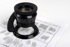 Scheda dell'impronta digitale Immagini Stock Libere da Diritti