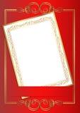Scheda dell'invito Fotografia Stock