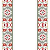 Scheda dell'invito con l'ornamento floreale Immagini Stock