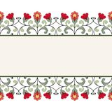 Scheda dell'invito con l'ornamento floreale Fotografia Stock