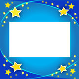 Scheda dell'invito con le stelle Fotografia Stock Libera da Diritti