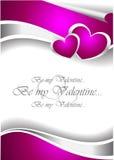 Scheda dell'invito del biglietto di S. Valentino Fotografie Stock Libere da Diritti