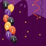 Scheda dell'invito del partito di Halloween Fotografie Stock Libere da Diritti
