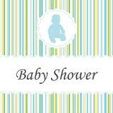 Scheda dell'invito della doccia di bambino Fotografia Stock Libera da Diritti
