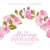 Scheda dell'invito di cerimonia nuziale Immagine Stock