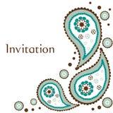 Scheda dell'invito di cerimonia nuziale Fotografie Stock