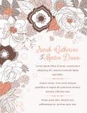 Scheda dell'invito di cerimonia nuziale Immagini Stock Libere da Diritti