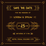 Scheda dell'invito di cerimonia nuziale Fotografia Stock