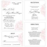 Scheda dell'invito di cerimonia nuziale Immagine Stock Libera da Diritti
