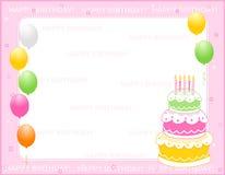 Scheda dell'invito di compleanno Fotografia Stock Libera da Diritti