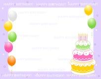 Scheda dell'invito di compleanno Fotografie Stock Libere da Diritti