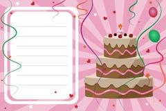 Scheda dell'invito di compleanno - ragazza Fotografie Stock Libere da Diritti