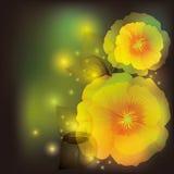 Scheda dell'invito o di saluto con il papavero del fiore Immagini Stock
