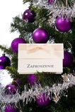 Scheda dell'invito sull'albero di Natale Immagini Stock Libere da Diritti