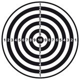Scheda dell'obiettivo Immagini Stock