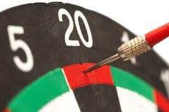 Scheda dell'obiettivo del gioco dei dardi Immagine Stock