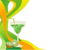 Scheda della bevanda con il kiwi Immagine Stock