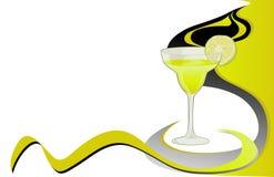 Scheda della calce del cocktail Fotografia Stock Libera da Diritti