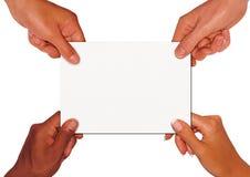 Scheda della holding Fotografie Stock