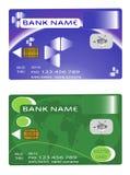 Scheda della moneta bancaria di due disegni Immagine Stock Libera da Diritti