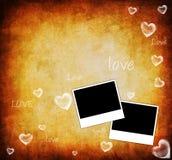 Scheda della priorità bassa del biglietto di S. Valentino Immagini Stock Libere da Diritti