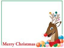 Scheda della renna di Buon Natale Fotografia Stock Libera da Diritti