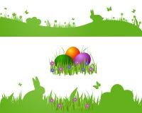 Scheda della siluetta di Pasqua immagine stock