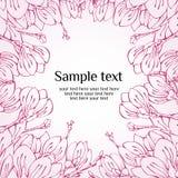 Scheda della sorgente del fiore della magnolia royalty illustrazione gratis