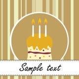 Scheda della torta di compleanno Immagini Stock Libere da Diritti