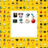 Scheda delle icone del banco del fumetto Fotografia Stock