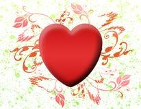 Scheda di amore del biglietto di S. Valentino (06) Immagini Stock
