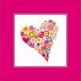 Scheda di amore del biglietto di S. Valentino Fotografie Stock Libere da Diritti