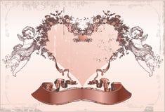 Scheda di amore. Giorno del biglietto di S. Valentino Immagini Stock