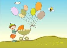 Scheda di anniversario del bambino illustrazione vettoriale