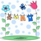 Scheda di annuncio del bambino royalty illustrazione gratis